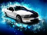 Biely Ford Mustang